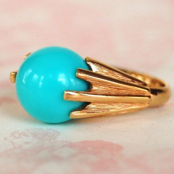 Vintage 1972 Color Fling Ring by Avon Adjustable