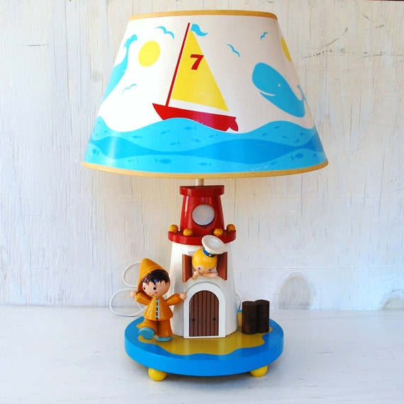 Vintage 1978 Child's Lighthouse Lamp by Nursery Originals, Inc.