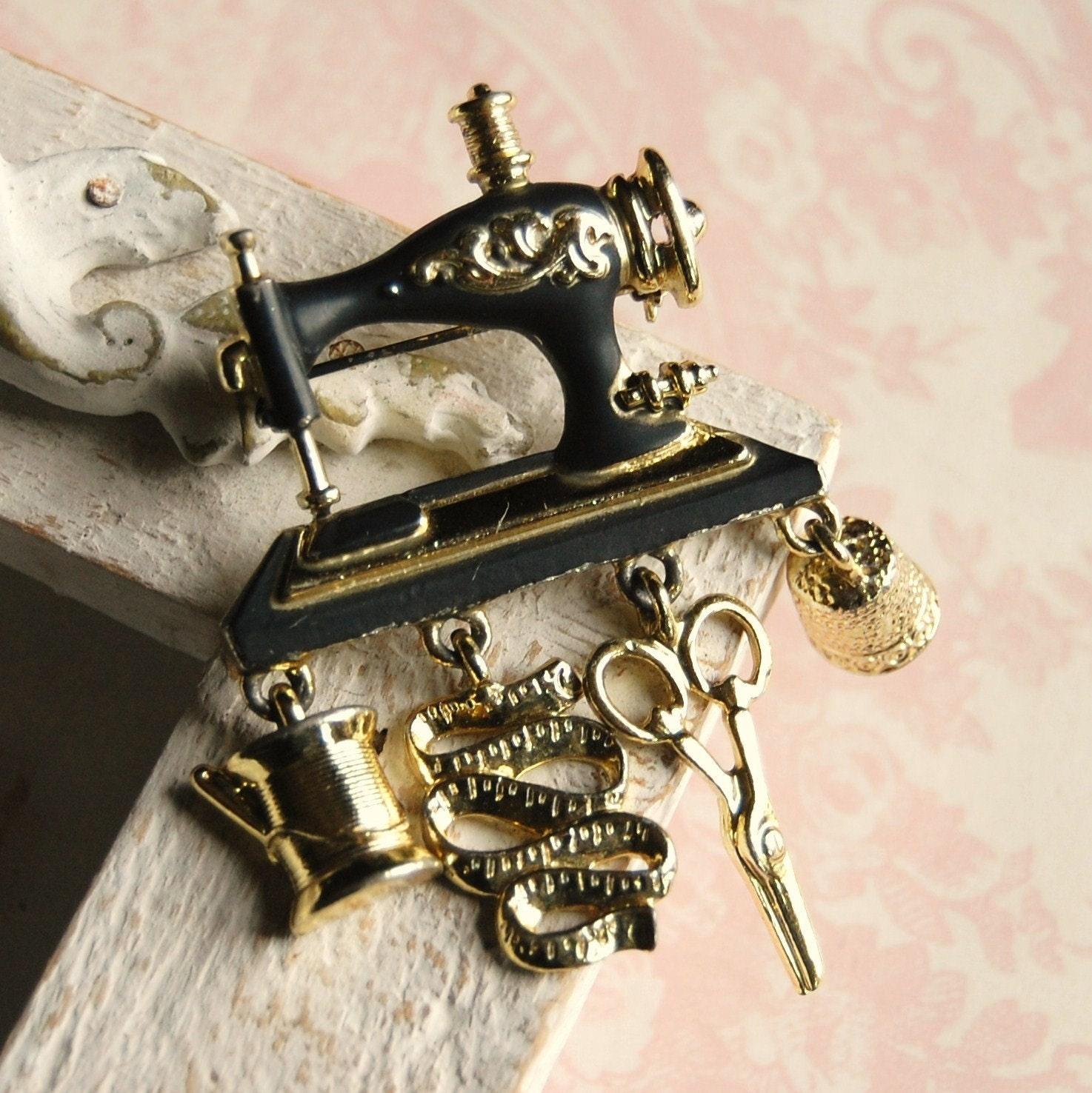 sewing machine charm