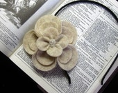Cordelia- Natural-Colored Recycled Felt Flower Headband