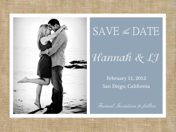 Classic Love- SAVE the DATE (digital file) DIY Printing at home or your choice of printer
