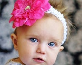 baby hair bow flower for girls...infant  head band ...hairbow flowers for newborn, toddler and little girls hair bows