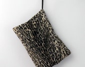 1950s/1960s Faux Leopard Fur Muff Purse Oversized/Large