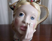 Vintage Alice in Wonderland Teapot Collectible Paul Cardew Lewis Carroll Character