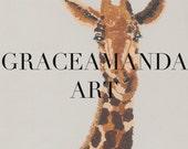 "Print of ""Giraffe"""