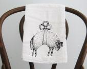 Little Bow Sheep Flour Sack Towel