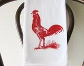 Flour Sack Towel Boney Red