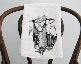 Tea Towel, bat towel, flour sack towel, dish towel, kitchen towel