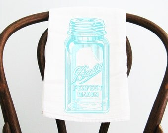Tea Towel, mason jar towel, flour sack towel, dish towel, kitchen towel