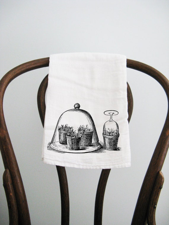 Flour Sack Towel Cloche