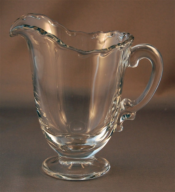 """Fostoria Glass Co. """"CENTURY"""" crystal 16 ounce pitcher ca 1950-1982 Price Lowered"""