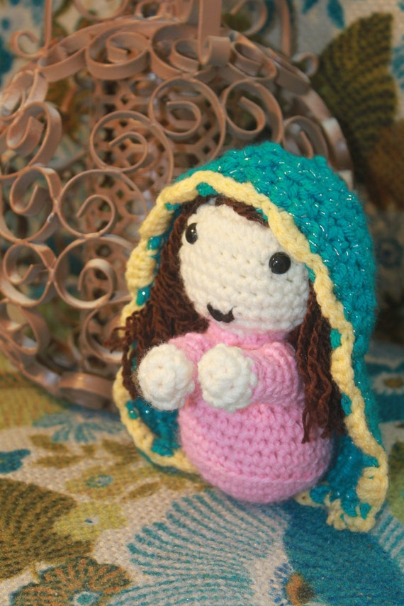 Our Lady of Guadalupe Knitted Doll