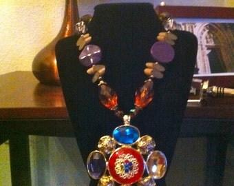 Vtg. Art deco Handmade Necklace
