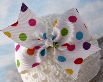 Simply Spotted Multi-Color Polk a Dot Bow