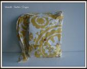 SALE Twill Suzani Corn Yellow Satchel / iPad Tote