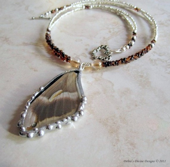 Sale-Butterfly Wing Jewelry - Necklace - Necklace - Cynthia Moth