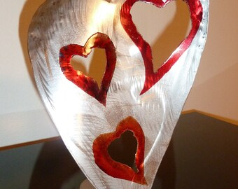 "Abstract Metal Heart Sculpture by Dennis Boyd (DB Designs - Creating Metal ""works of art"") Sculpture Frame 6"
