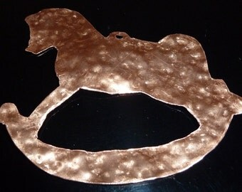"Copper Rocking Horse Ornament by Dennis Boyd (DB Designs - Creating Metal ""works of art"") Ornament 8"