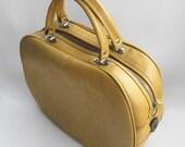 vintage 70s yellow overnight bag