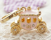 Pink Carriage Trolley Charm Pendant