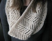 PATTERN Lace Cowl pdf Knitting Pattern / Easy Lace knitting Pattern / Circle Scarf Knitting Pattern