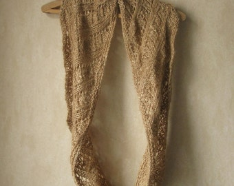 PATTERN Lace Cowl Pdf Knitting Pattern / Lacy Knitting Pattern / Aran Knit / Easy Knit Cowl / Quick Knit Scarf