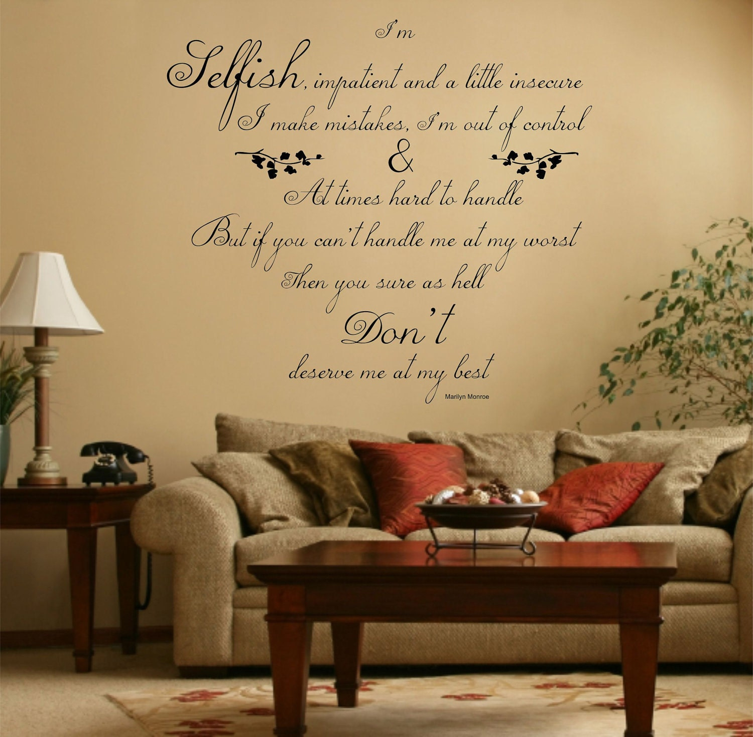 Marilyn Monroe Wall Art Quotes - Elitflat