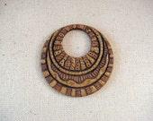Original Hand Carved Stoneware Pendant