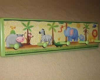 Kid's corner coat rack ( Jungle Animals )