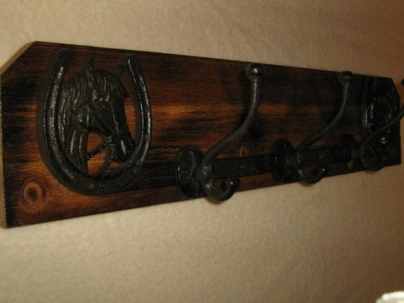 """Lucky horse """"old west"""" iron coat rack"""