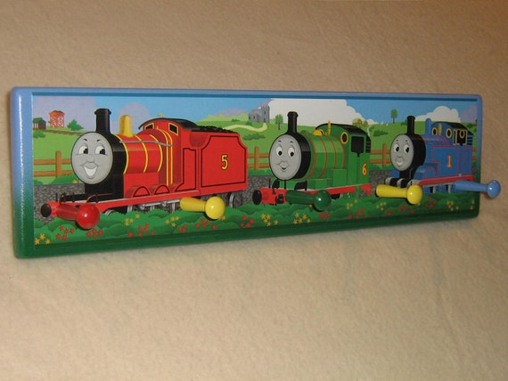 Kid's corner coat rack ( Thomas the Train )