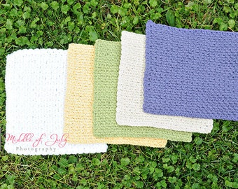 Facecloth, Washcloth, Set of 3, Crochet, Eco Friendly Facecloth, Ewe N Me Boutique