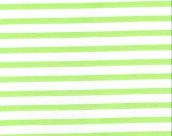 CLEARANCE! Pimatex Basics, Robert Kaufman, Green Stripe, 1/2 yard