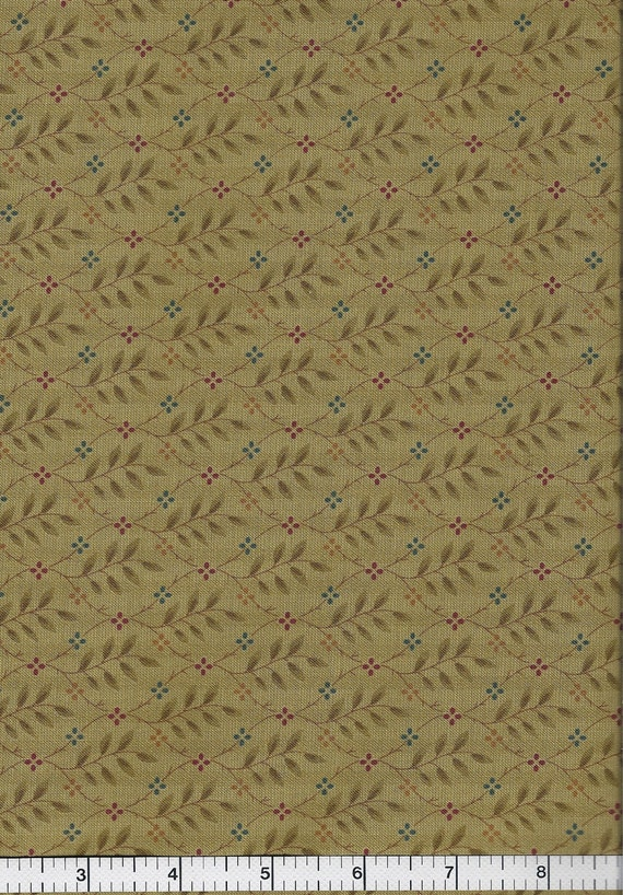 End of Bolt Four Seasons, Moda Fabrics, Green