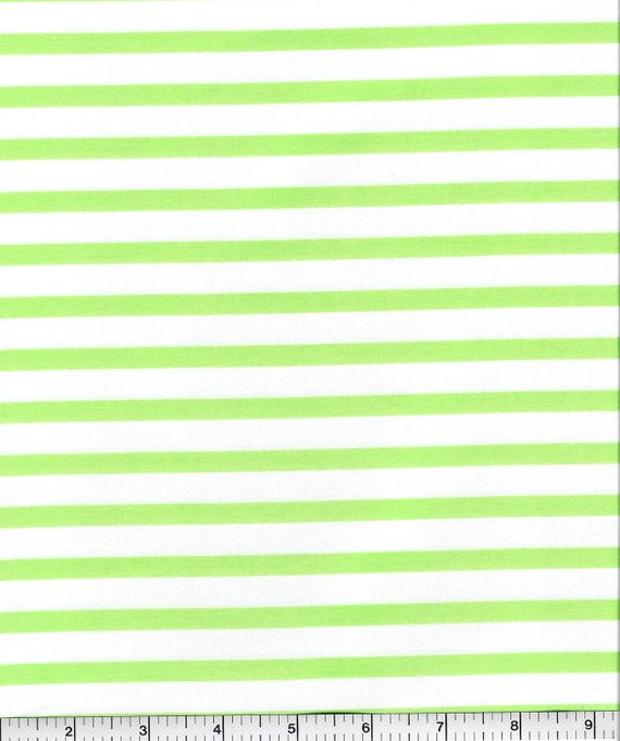 CLEARANCE! Pimatex Basics, Robert Kaufman, Green Stripe, 1/2 yard