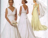 Sewing Pattern Women Wedding Bridal Dress Gown Szs 8, 10, 12, 14  New