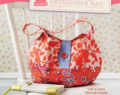 split personality reversible bag pattern by straight stitch society, FREE SHIPPING with any fabric purchase