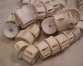 Natural Fish Bone Vertebrae Beads, 3/4 Inch Natural Vintage Bone Beads, Destash Circa 1980's