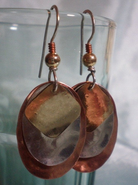 Karma Deflection, 14K, Silver, Copper Earrings, Protection, Enlightenment