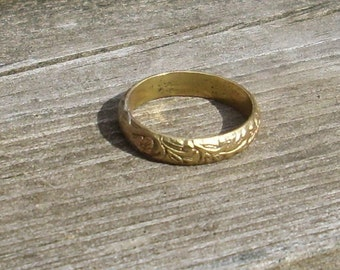 Custom Gold Filled Renaissance Ring with Flowers