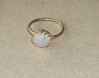 Moonstone Stacking Ring- Gold Filled