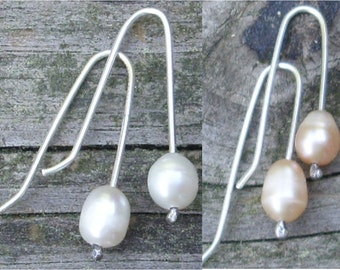 Your Color Pearl & Sterling Silver Earrings