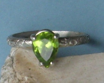 Custom Gem Sterling Silver Ring