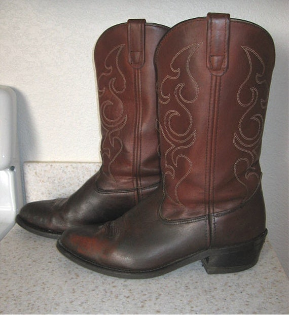 Shepler, Sheplers western, cowboy boots, vintage mens size 12 D