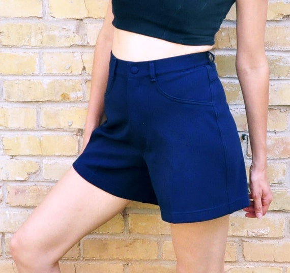 Navy Blue High Waisted Shorts Size Small