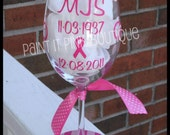 Breast Cancer Awareness Wineglass