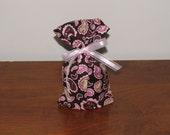 Small Pink & Brown Paisley Gift Bag