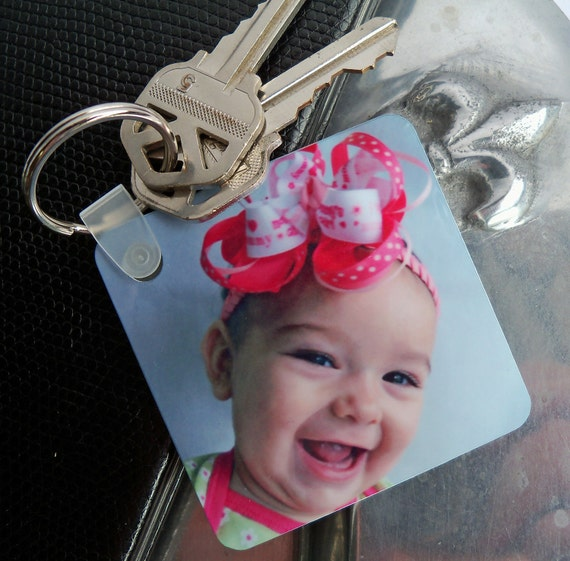 Photo Key Chain - Mommy's Sweetheart - Mothers Day - Valentine - Personalize with Custom Picture or Text