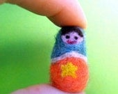 OOAK - Miniature  Matryoshka - needle felted Russian doll