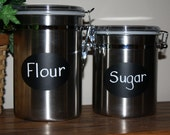 12 Oval Chalkboard Vinyl Labels  3 1/2 x 2 1/2 inches